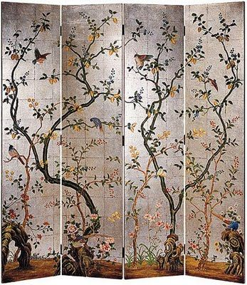I love Chinese silk screens! I want to fill my house with them!