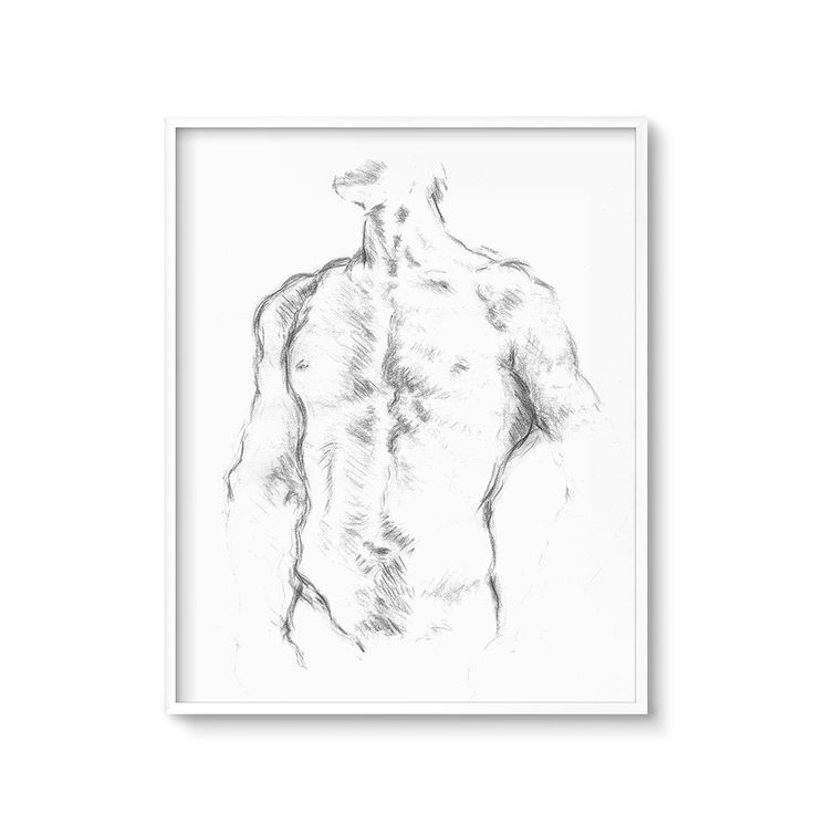 """Life Drawing Male Figure Sketch Printable Art Gallery Wall Decor – Please repin, favorite, or click """"Visit"""" to see more affordable art printables!"""