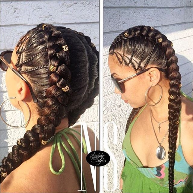 """STYLIST FEATURE  Love these #cornrows styled by #MiamiStylist @natalystyles1❤️ """"Miami Life everyday"""" #voiceofhair ========================= Go to VoiceOfHair.com ========================= Find hairstyles and hair tips! ========================="""