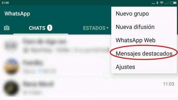Lista De Mensajes Destacados En Whatsapp Para Android Trucos Para Whatsapp Mensajes Trucos