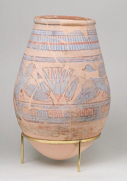 Blue-painted Jar from Malqata Period: New Kingdom Dynasty: Dynasty 18 Reign: reign of Amenhotep III Date: ca. 1390–1353 B.C.
