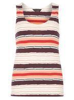 Womens Navy Stripe Textured Vest- Navy