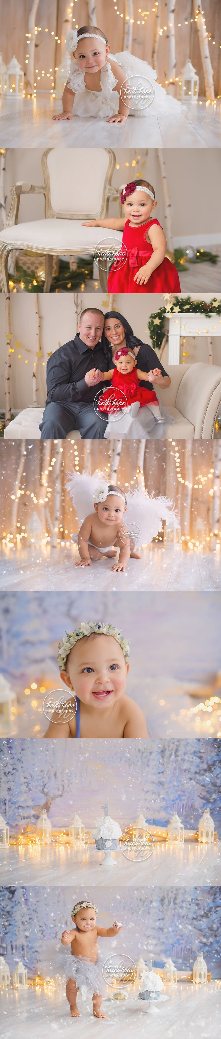 A winter wonderland cakesmash and Holiday portrait sneak peek! | Heidi Hope Photography