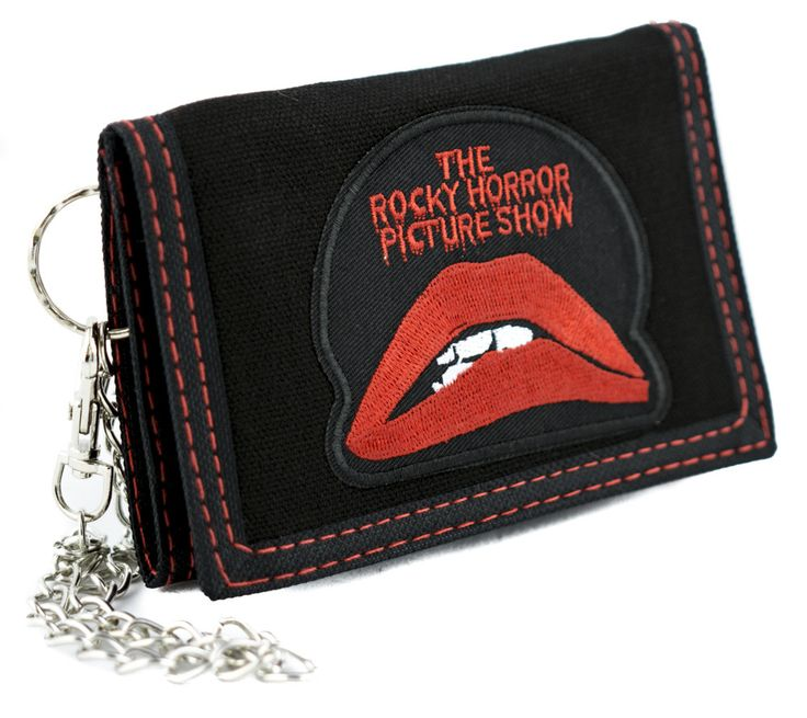 Rocky Horror Picture Show Tri-fold Wallet with Chain Alternative Clothing