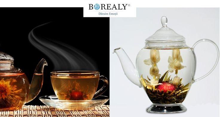 tea blooming flower tea
