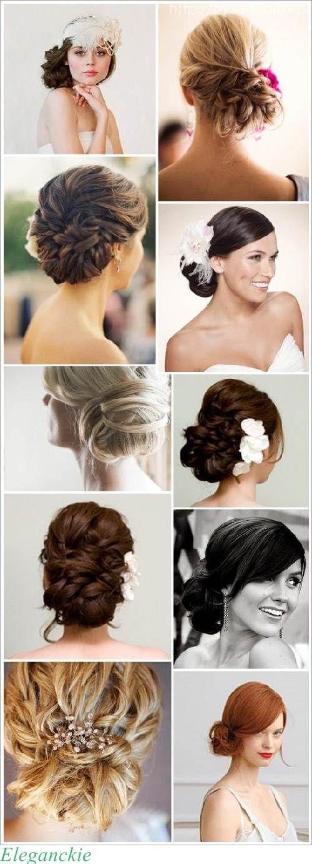 Eleganckie fryzury (wesele, studniówka, bal)
