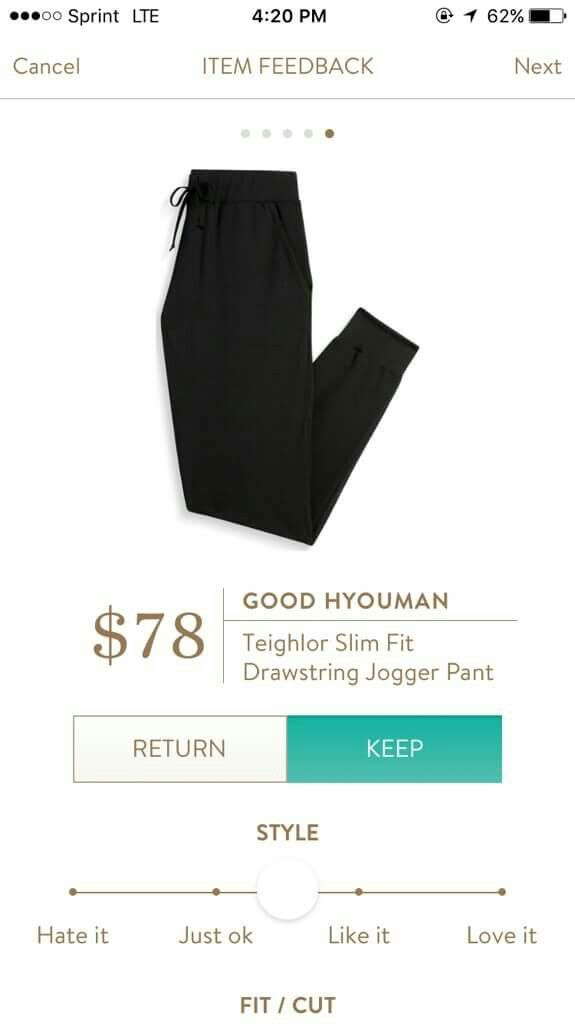 Stitch Fix - I would love a jogger like this for my upcoming travels!