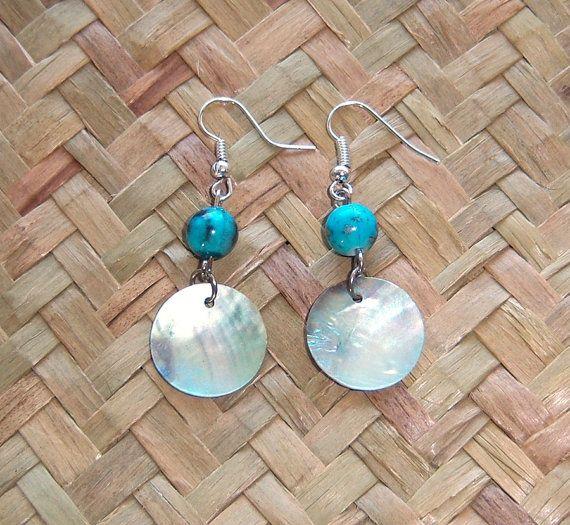 Iridescent Shell earrings by OceanicBeads on Etsy, $9.88