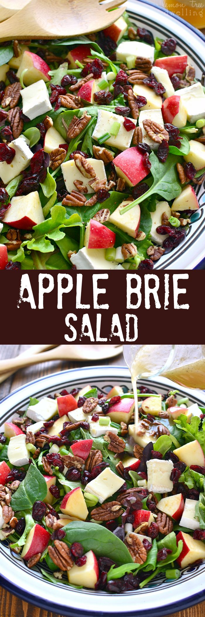Apple Brie Salad - Combines the crispness of apples with the creaminess of brie cheese in a delicious salad that's perfect for winter!