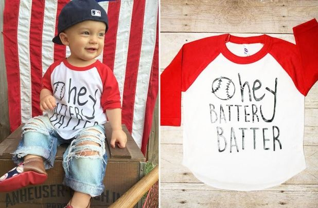 Kids Hey Batter Batter Tee for $13.99