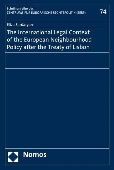 The International Legal Context of the European Neighbourhood Policy After the Treaty of Lisbon