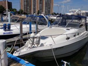 2001 Regal Commodore 2760 -Economical T 4.3 Volvo with Duo Props. Only 360 Hrs. Air/Heat, Geni, Windlass, GPS, Extended Swim Platform, Large Mid Cabin, Electric Head, Full Camper Top With Cockpit Cover. Excellent Condition. - See more at: http://www.caboats.com/used-boats/8863.htm