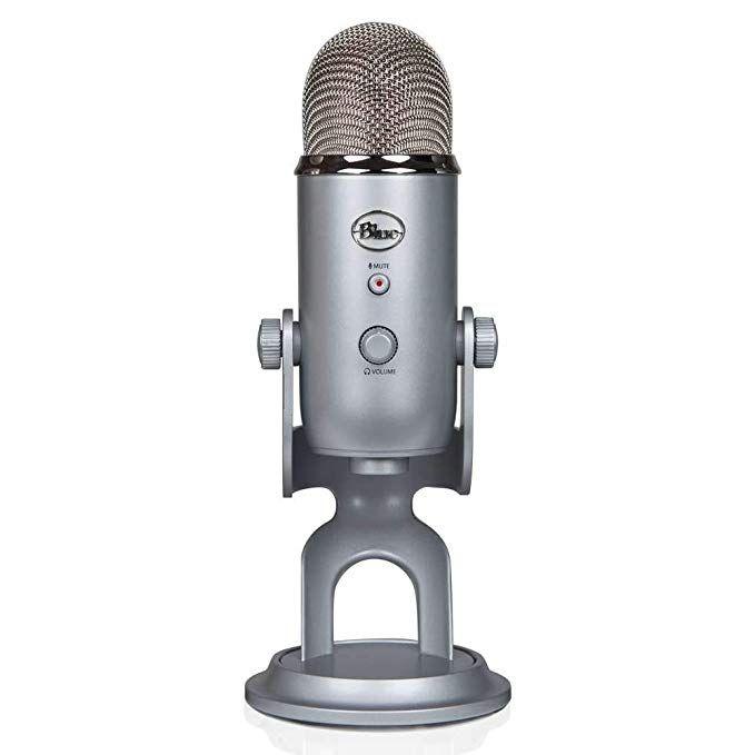 Amazon.com: Blue Yeti USB Microphone - Silver: Musical Instruments   Blue  yeti usb microphone, Usb microphone, Blue microphones
