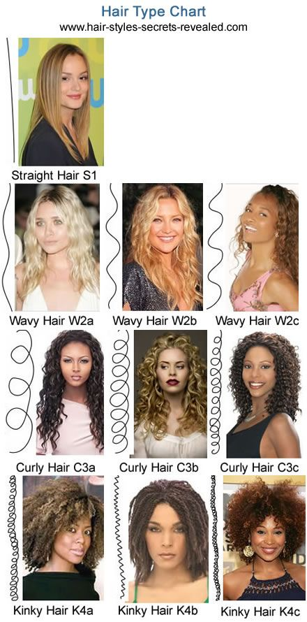 hair types. Andre's types of hair classification system ranks from 1