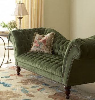 Opaline: Victorian Fainting Couches  I love EVERYTHING about this couch, including the color!!