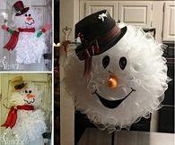 DIY Snowman Wreath Video Tutorial