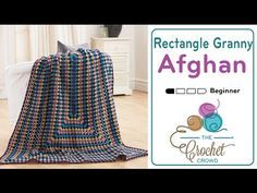 Crochet Granny Rectangle Afghan Tutorial. Get the free written pattern and more information at http://thecrochetcrowd.com/crochet-granny-rectangle-afghan-tut...