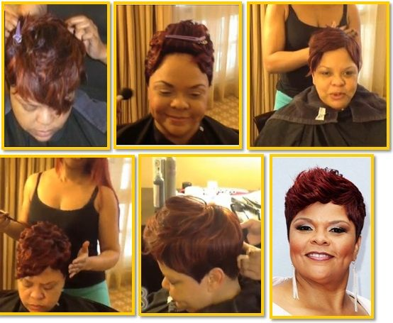 Tamala Mann looking fierce with her Red Do