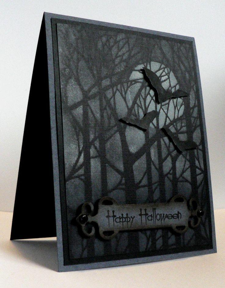 My Mindful Creations: Happy Halloween - Dreamweaver Bare Trees Brass Stencil