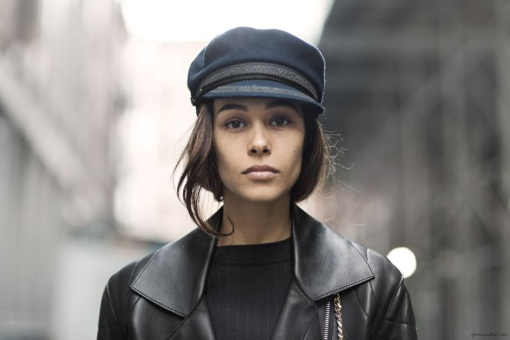 I'm not sure if this hat is me, but there is something so chic about it...