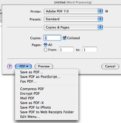 how to separate 1 page from a pdf mac