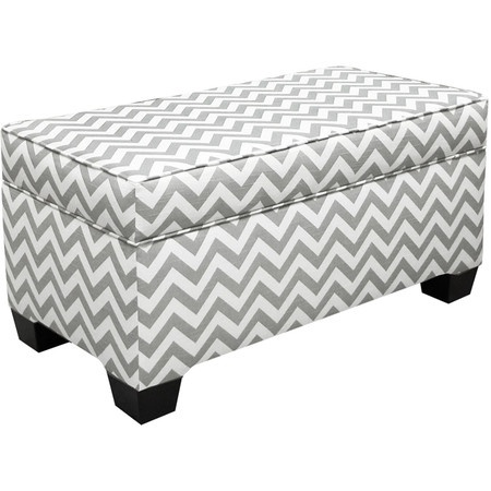 Bedlow Storage Ottoman in Ash Gray