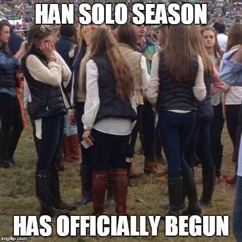 Han Solo Season is upon us! #StarWars