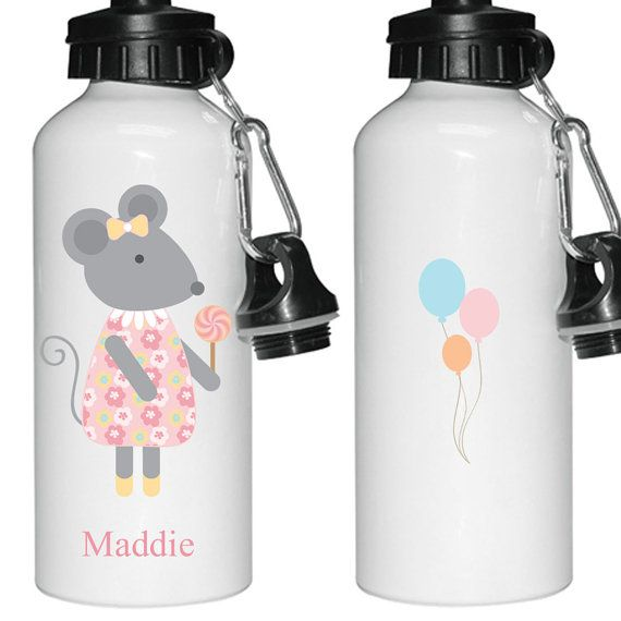 Personalised Kids water bottle Personalized aluminium by cjcprint