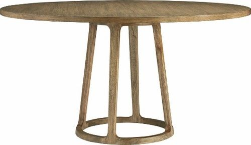 Round clean wood dining table. by adrisweet