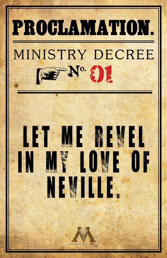 Proclamation Neville Longbottom by charmstudio on Etsy!