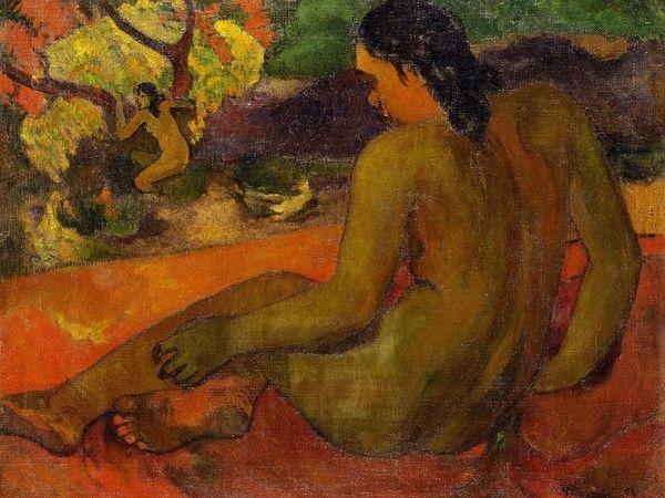 Paul Gauguin, Donna di Tahiti, 1898, olio su tela, cm 72,5x93,5. Copenhagen, Ordrupgaard