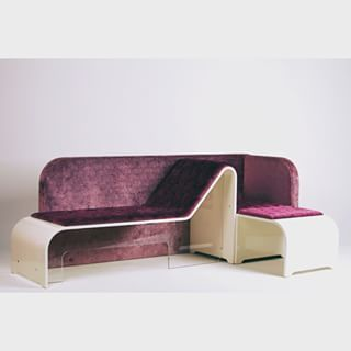 Freudian comfort - double chaise longue by Vittorio Hodara (purple silk velvet and milky wooden structure)  #designer #vittoriohodara #home #psychiatric #comfort #design #homedesign #decor #luxury #modern #purple #colors #interiors #chaiselongue #sofa #seat #london #ny #miami #singapore #milan #lifestyle #touch #musthave #dezeen #archiproducts #breradesigndistrict #curve #interiordesign #freud