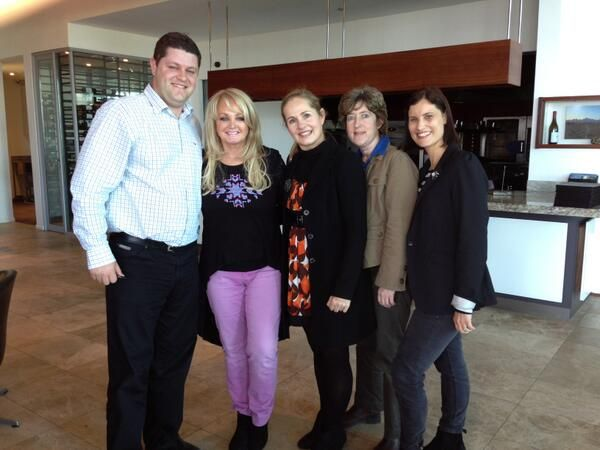 On September 5th, Bonnie Tyler met he Waterkloof team after her lunch at Waterkloof Wines restaurant. http://www.waterkloofwines.co.za/