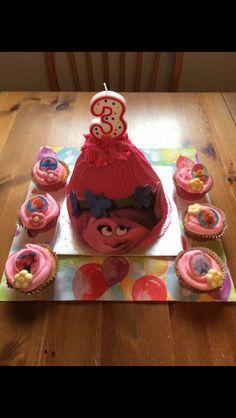 Troll theme cakes. Large troll cake Sainsbury's
