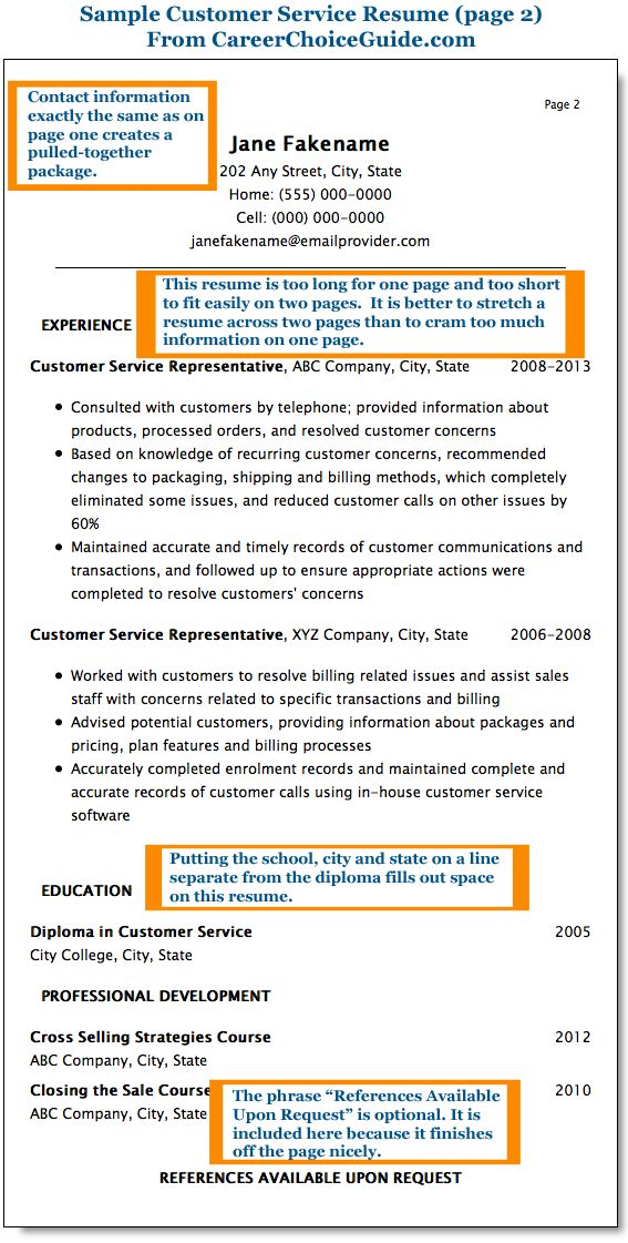 16 best Resume images on Pinterest Resume examples, Sample - resume example customer service