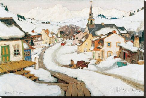 Village in the Laurentians by Charles Gagnon