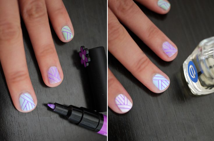 Nail art pen (although I might just do it on the ring finger)