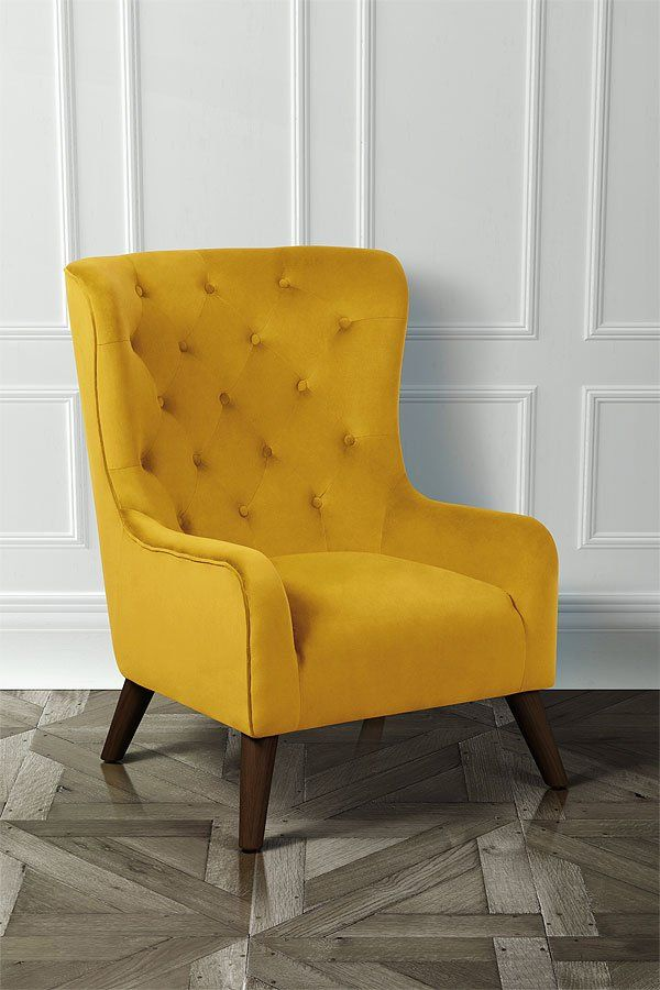 Mustard Yellow velvet chair stunning statement piece £449.99
