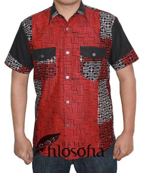 Kemeja Batik Pria 016 - Kode BP016 - Batik cap garutan - Bahan katun - Tanpa puring - Tersedia berbagai ukuran