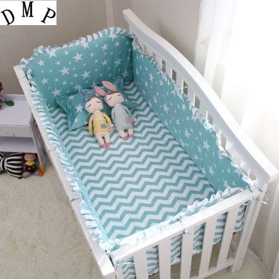 42.80$  Watch here - http://ali272.shopchina.info/1/go.php?t=32380567903 - Promotion! 6PCS Cartoon 100% cotton crib bedding set of pieces unpick and wash baby bedding (bumpers+sheet+pillow cover)  #buyonlinewebsite