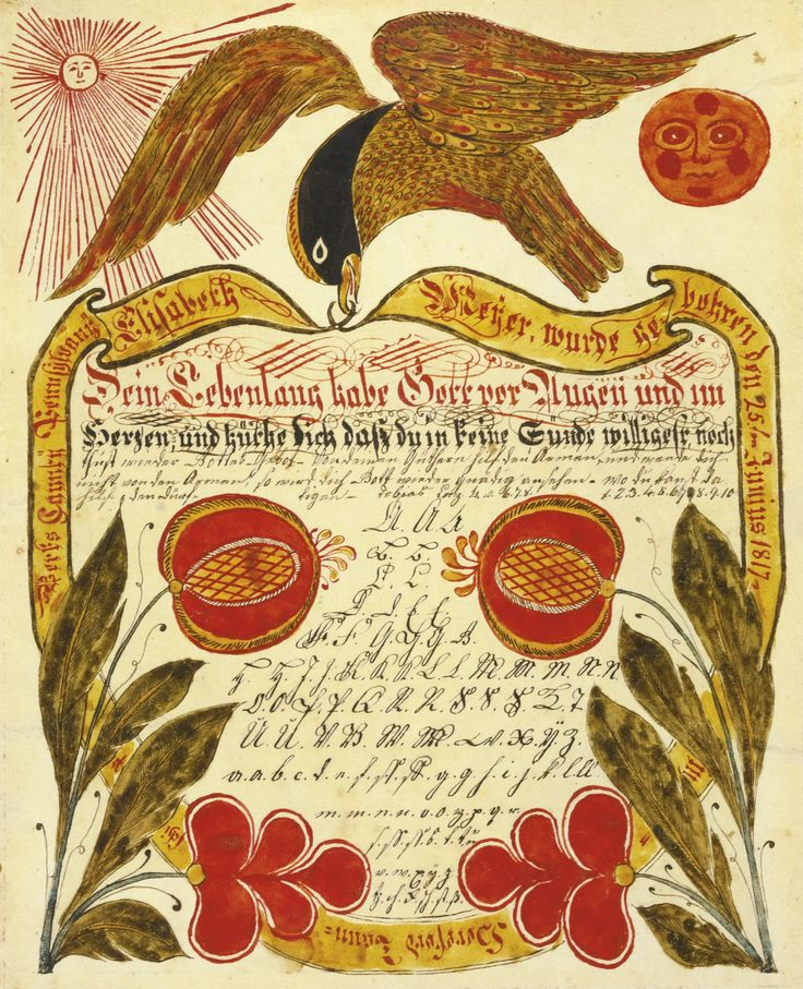 122 best Fraktur, German Folk Art and Folklore images on Pinterest - copy translate mexican birth certificate