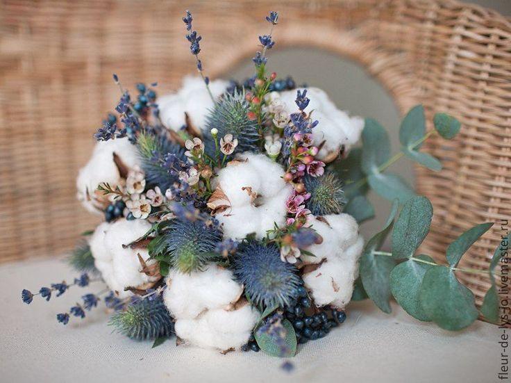 Купить Букет невесты / Зимний свадебный букет - белый, букет, свадебный букет
