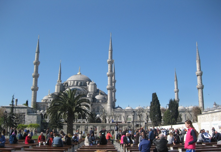 Blue Mosque, blue sky
