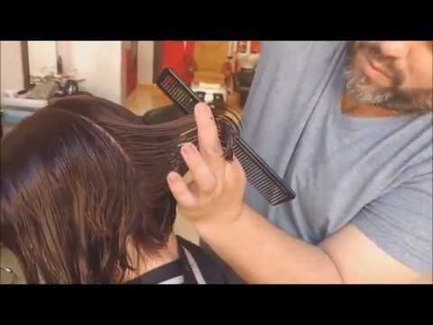 Como se corta una Melena Midi - Short Haircut midi Hair cutting Video Tutorial - YouTube
