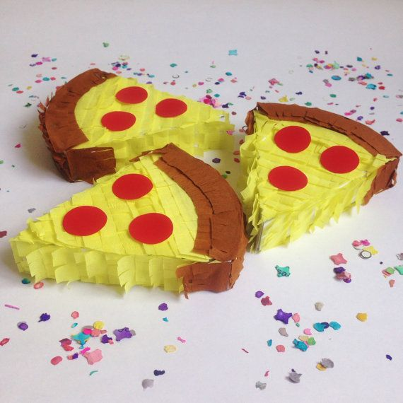 Pizza pinata, Mini pinata, Emoji theme party, Pizza toy, Emoji pinata, Pizza party, Emoji party, Pizza lover, SET OF 3