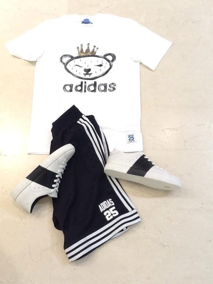 T shirt  e pantaloncino #Adidas  --> http://goo.gl/5FwJdn Scarpe #CrimeLondon --> http://goo.gl/3xFV9L