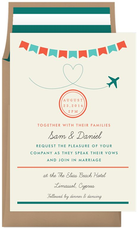 Airmail Bunting by A Fresh Bunch | Greenvelope.com