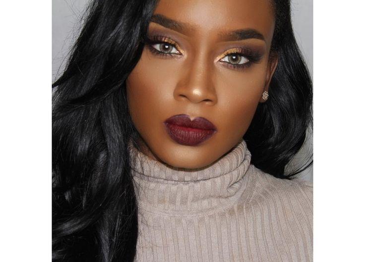 17 meilleures id es propos de maquillage peau noire sur pinterest maquillage noir. Black Bedroom Furniture Sets. Home Design Ideas