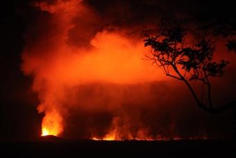 Erupting volcano...drc