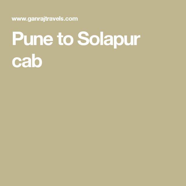 Pune to Solapur cab